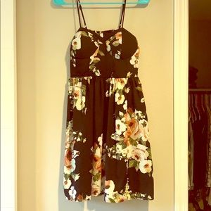 Black Xhilaration Floral Dress